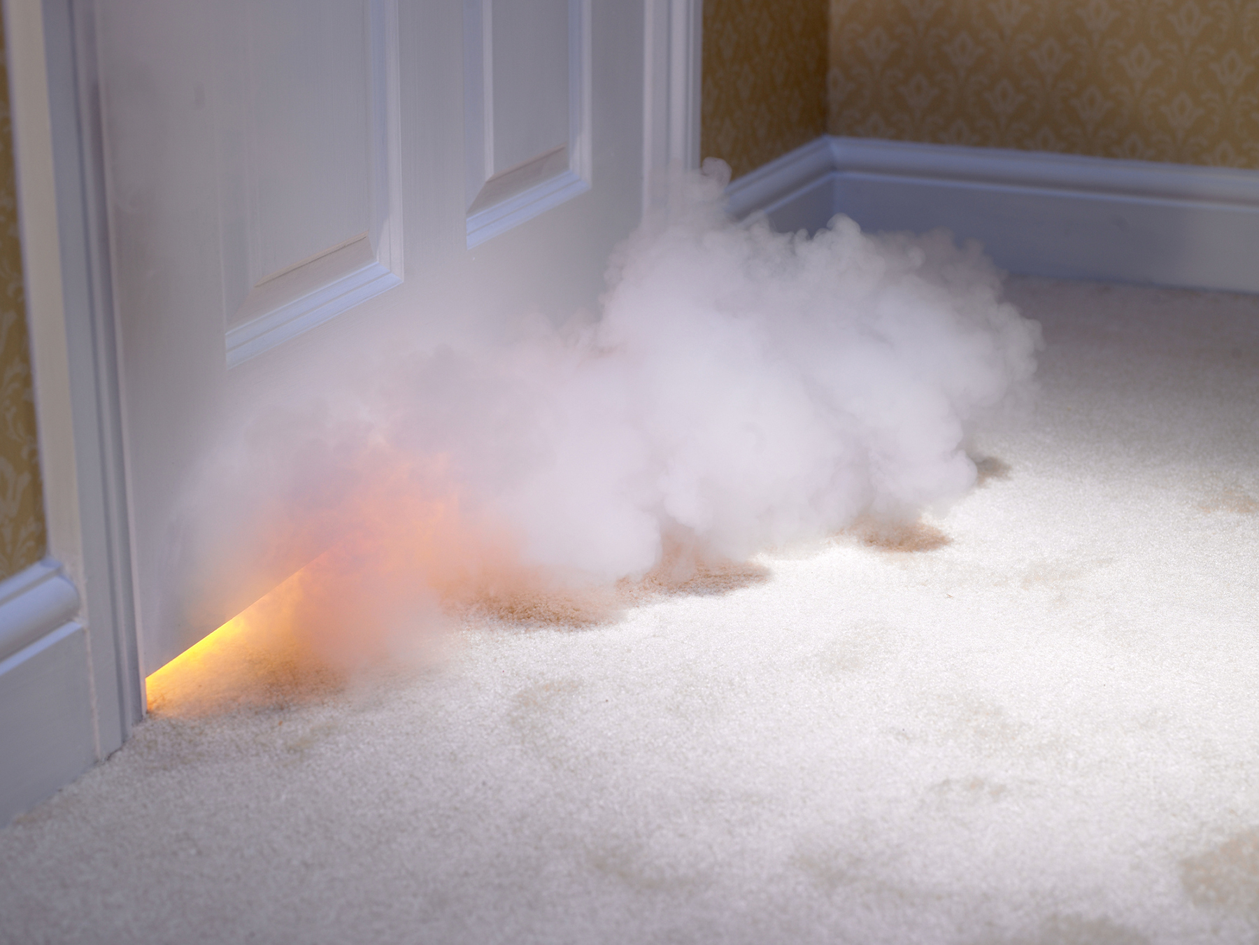Smoke coming in under door | Forensic Cleaning Services